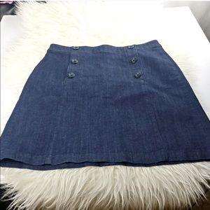 Ann Taylor Loft Petite Denim Sailor Skirt Jean 8